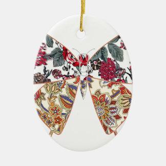 batik and butterfly no.2 ceramic oval decoration