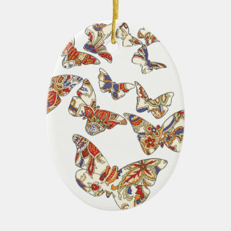 batik and butterfly no.3 collection ceramic oval decoration