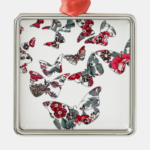 batik and butterfly no.5 christmas tree ornament