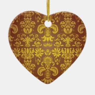 Batik Bali style design Ceramic Heart Decoration