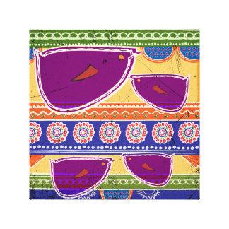 Batik Birds Picture Canvas Print