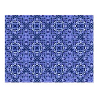 Batik Blue Postcard