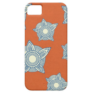 Batik boho chic girly tribal orange damask pattern iPhone 5 cover