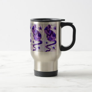 Batik Cat Stainless Steel Travel Mug