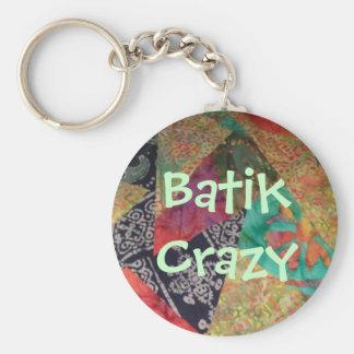Batik Crazy Basic Round Button Key Ring