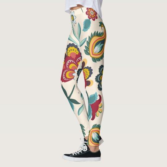 Batik Floral Boho Indonesian Style Leggings