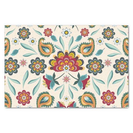 Batik Floral Boho Indonesian Style Tissue Paper