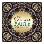 Batik Golden Earth Dinner Party Invitations