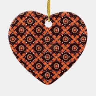 batik graphic art no.2 ceramic heart decoration