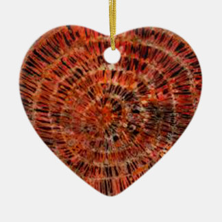 batik graphic art no.3 ceramic heart decoration