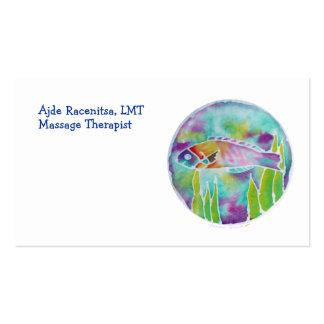 Batik Hinalea Hawaiian Wrasse Fish Batik Art Business Card Templates