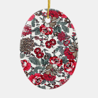 batik no.16 collection ceramic oval decoration
