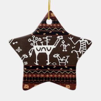 batik no.18 collection ceramic star decoration