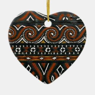 batik no.19 collection ceramic heart decoration
