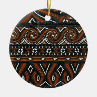 batik no.19 collection round ceramic decoration