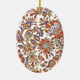 batik no.1 collection ceramic oval decoration