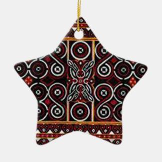 batik no.20 collection ceramic star decoration