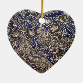 batik no.21 collection ceramic heart decoration