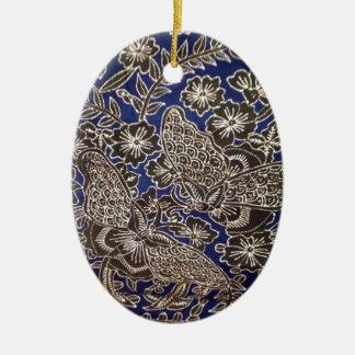 batik no.21 collection ceramic oval decoration