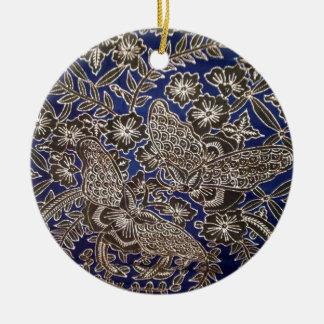 batik no.21 collection round ceramic decoration