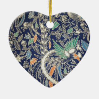 batik no.22 collection ceramic heart decoration