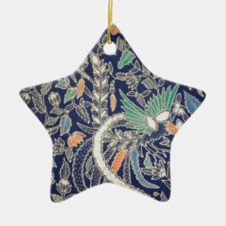 batik no.22 collection ceramic star decoration