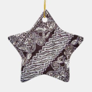 batik no.23 collection ceramic star decoration