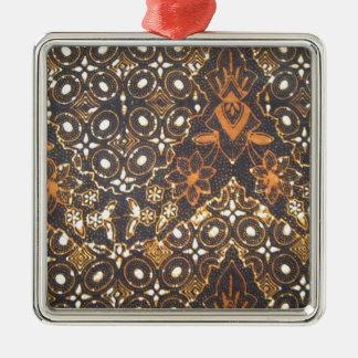 batik no.24 collection Silver-Colored square decoration