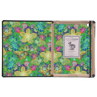 Batik POP ART DoDo Floral in Green Case For iPad