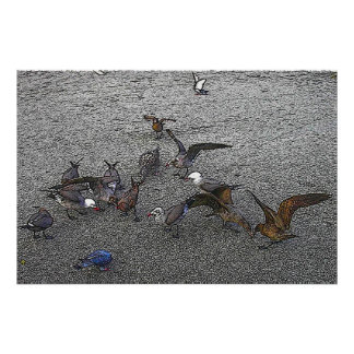 Batik Seagulls Print