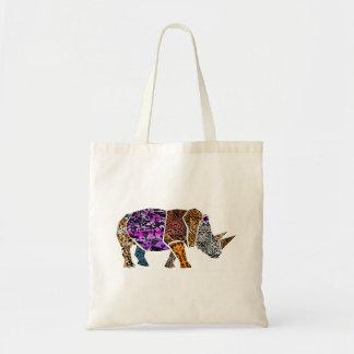 Batik Style Bull Elephant tote bag