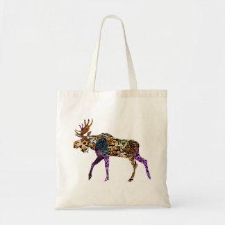 Batik Style Bull Moose tote bag