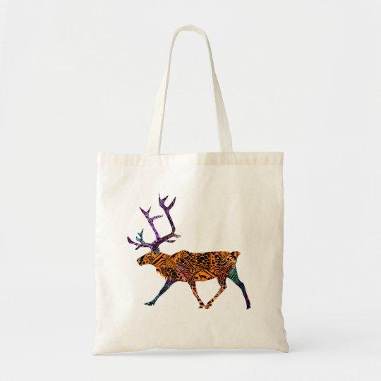 Batik Style Caribou tote bag