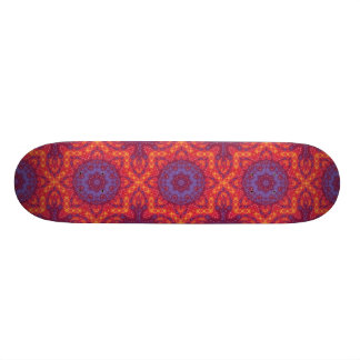 Batik Sunset Watercolor Mandala 21.6 Cm Skateboard Deck