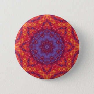 Batik Sunset Watercolor Mandala 6 Cm Round Badge