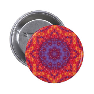 Batik Sunset Watercolor Mandala Pin