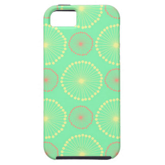 Batik tribal girly floral chic green dots pattern case for the iPhone 5