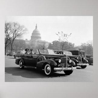 Batista Cruising the Capitol: 1938 Poster