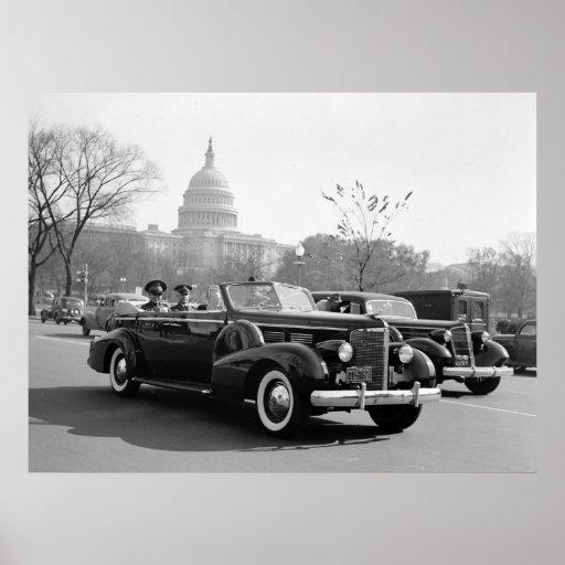 Batista Cruising the Capitol: 1938 Posters
