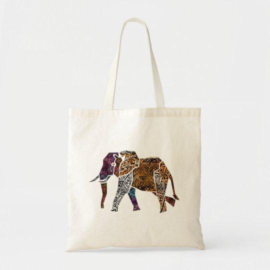 Batk Style Bull Elephant tote bag
