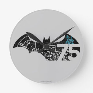 Batman 75 Logo - Chalkboard Round Clock