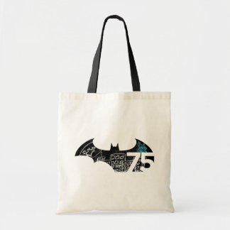 Batman 75 Logo - Chalkboard Tote Bag
