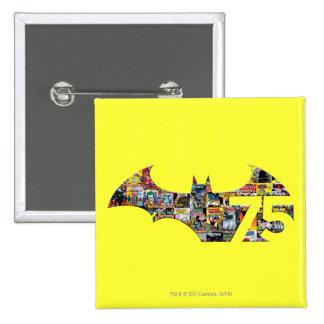 Batman 75 Logo - Comic Covers 15 Cm Square Badge