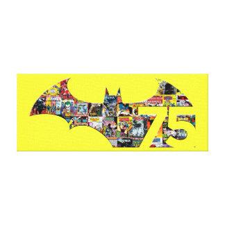Batman 75 Logo - Comic Covers Canvas Print