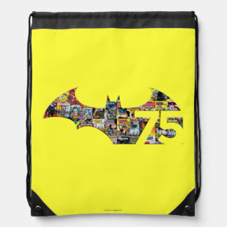 Batman 75 Logo - Comic Covers Drawstring Bag