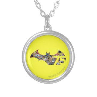 Batman 75 Logo - Comic Covers Round Pendant Necklace