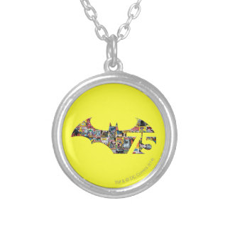 Batman 75 Logo - Comic Covers Silver Plated Necklace