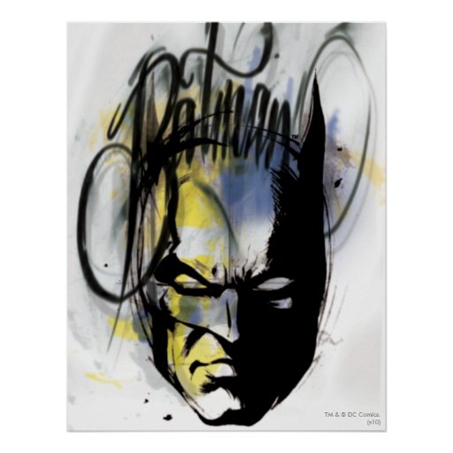 Batman Airbrush Portrait Print