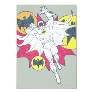 Batman And Bat Symbol Graphic 13 Cm X 18 Cm Invitation Card