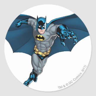 Batman and Joker with Cards Classic Round Sticker